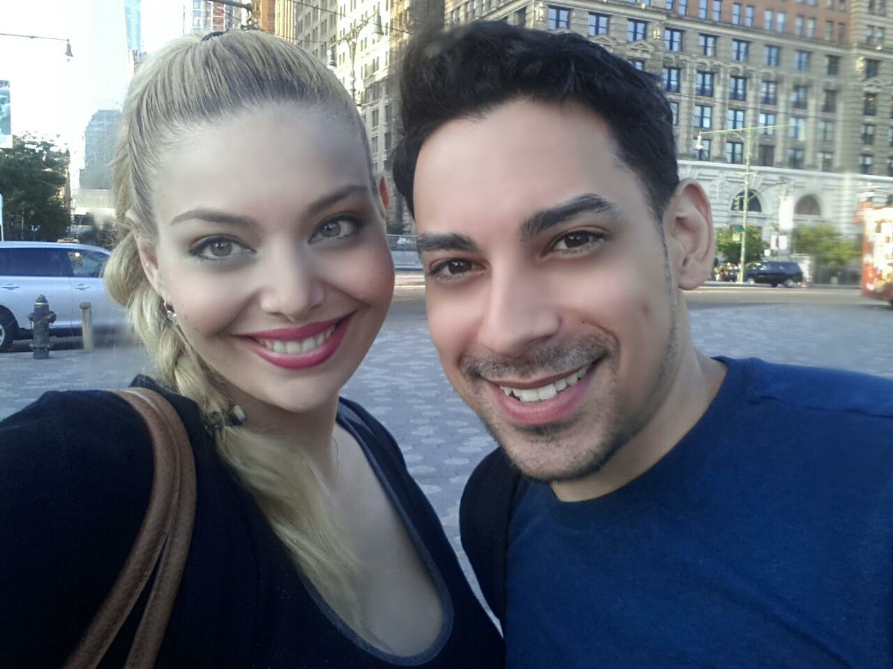 Actress Janet Miranda and Actor Jason Torres right before their first rehearsal.