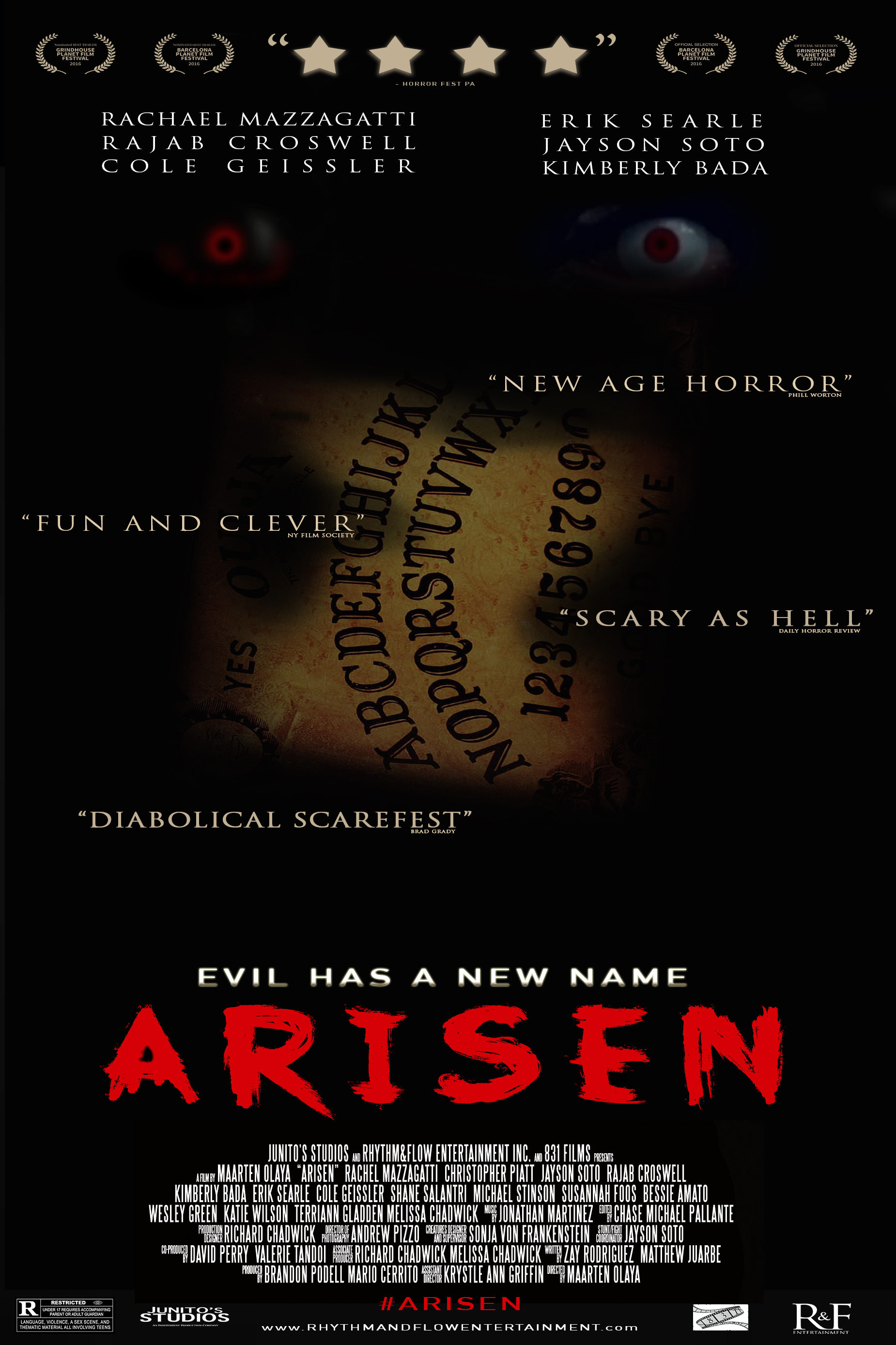 ARISEN OFFICIAL MOVIE POSTER RFE ENTERTAINMENT