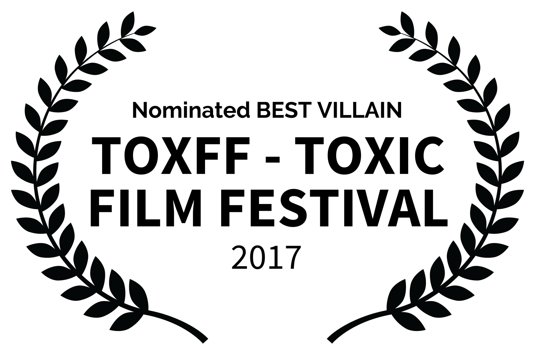 Nominated BEST VILLAIN - TOXFF - TOXIC FILM FESTIVAL - 2017-2.png