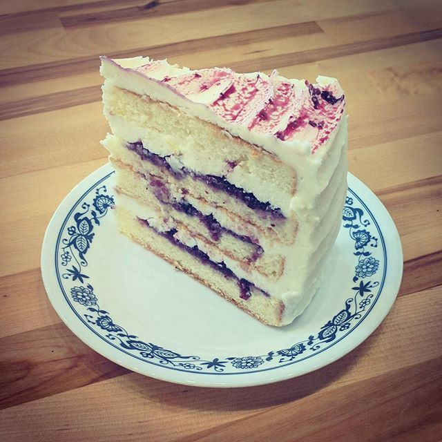 Ready for a Hump Day pick-me-up?!? We've got a delicious Blueberry Lemon Cake that will bring a pinch of summer to your cold blistery day! #heybangor #downtownbangor #eatlocal #shoplocal #blueberry #afternoonsnack #bangormaine