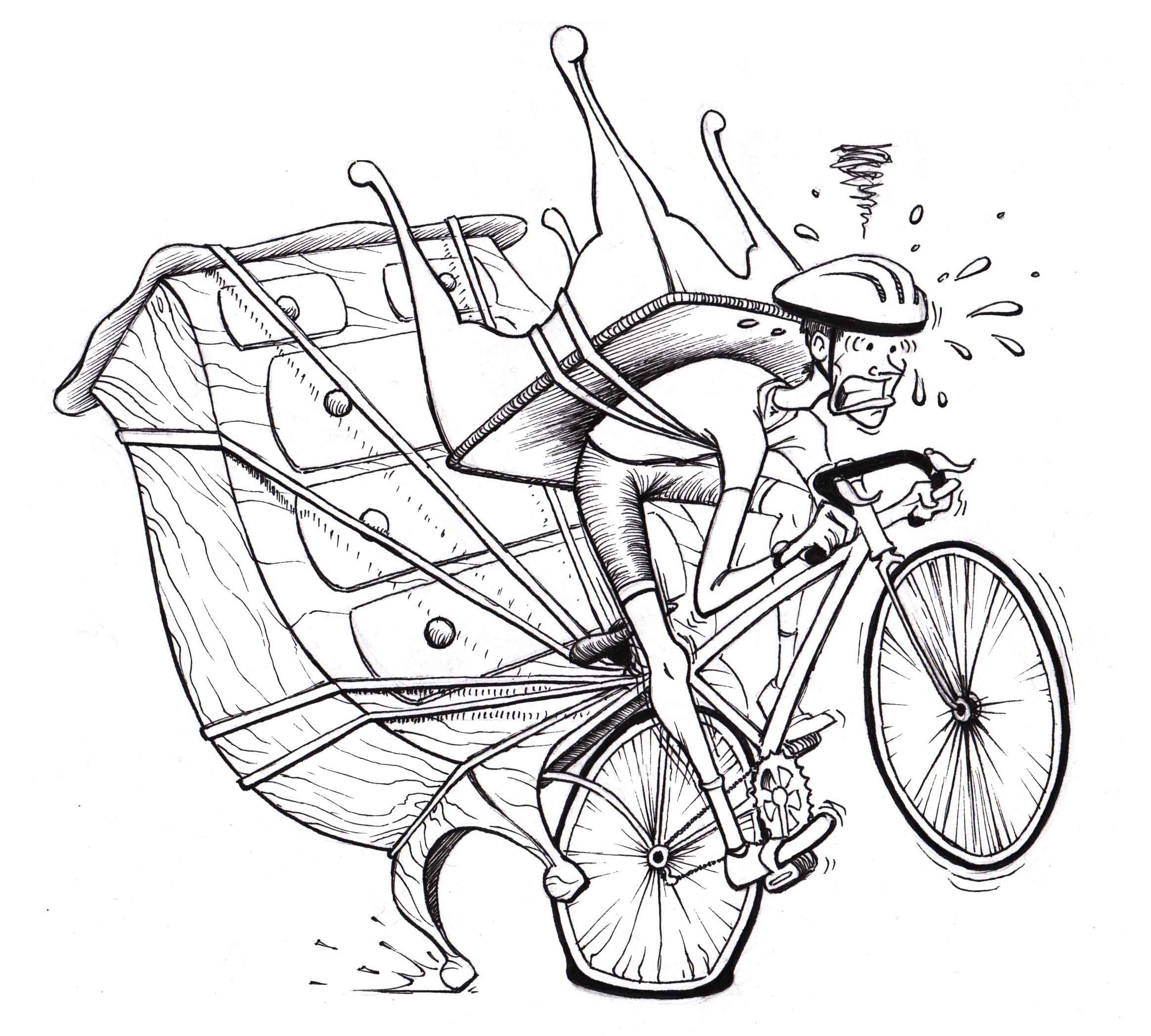 Antiquing Cyclist - Kipp T. Jarden