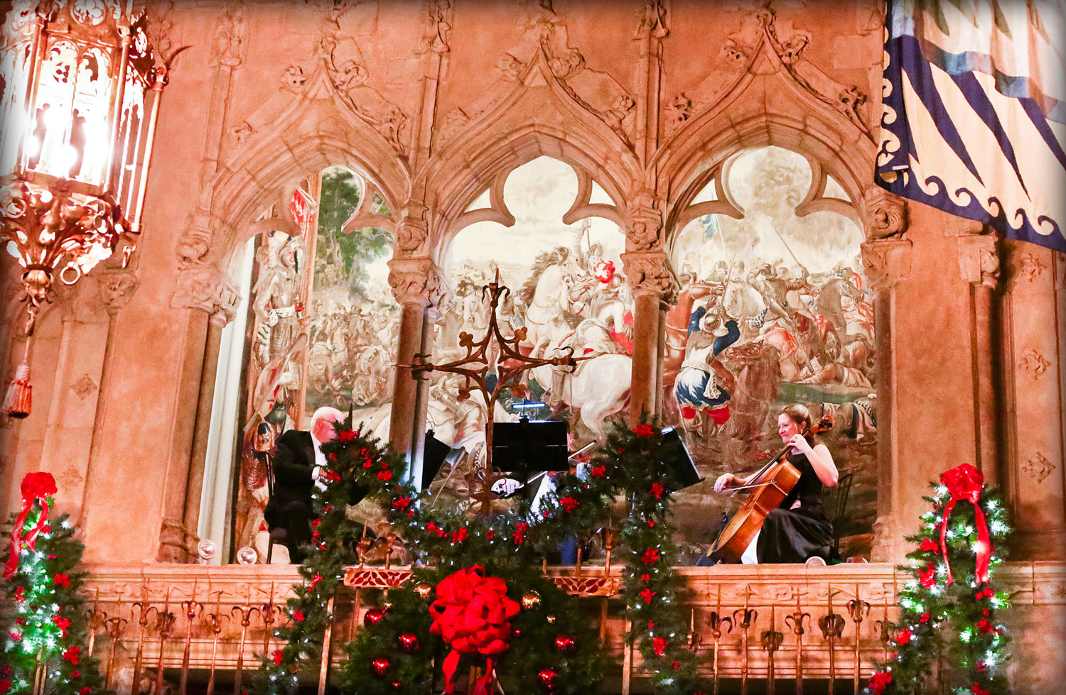 Performance for the Holiday Feast at  Hearst Castle.