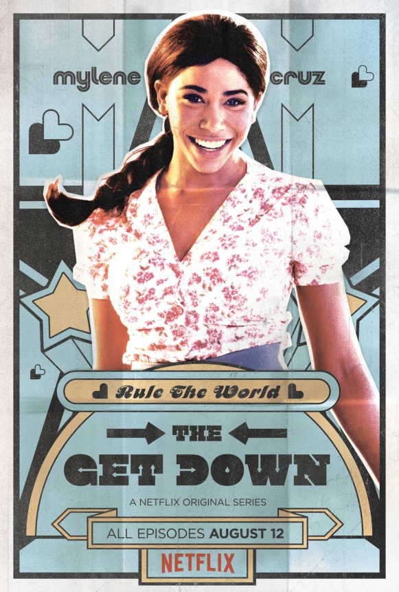 Herizen F. Guardiola as Mylene Cruz in The Get Down on Netflix. [Poster]
