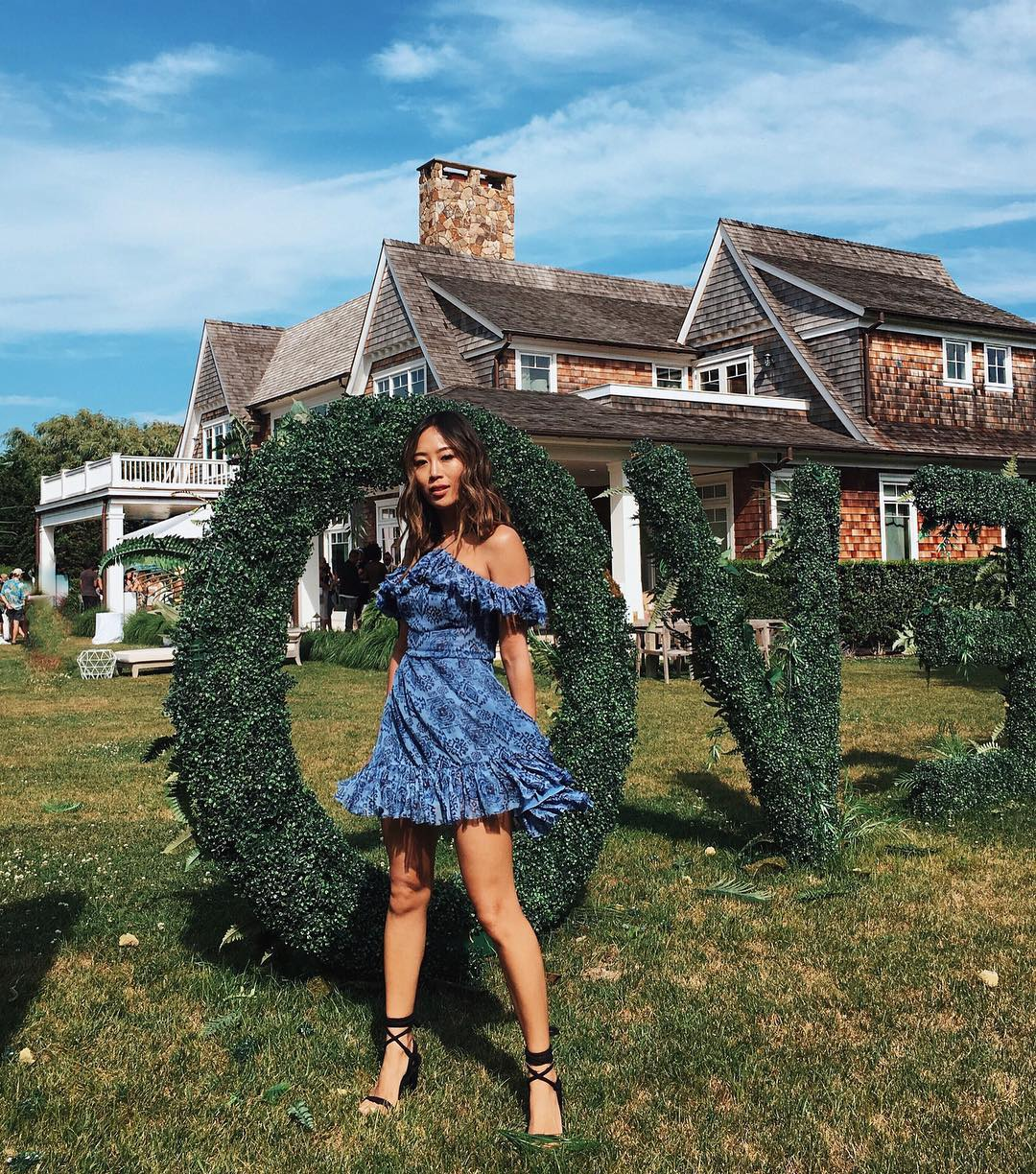Aimee Song of  Song Of Style  at the  Revolve Hamptons House
