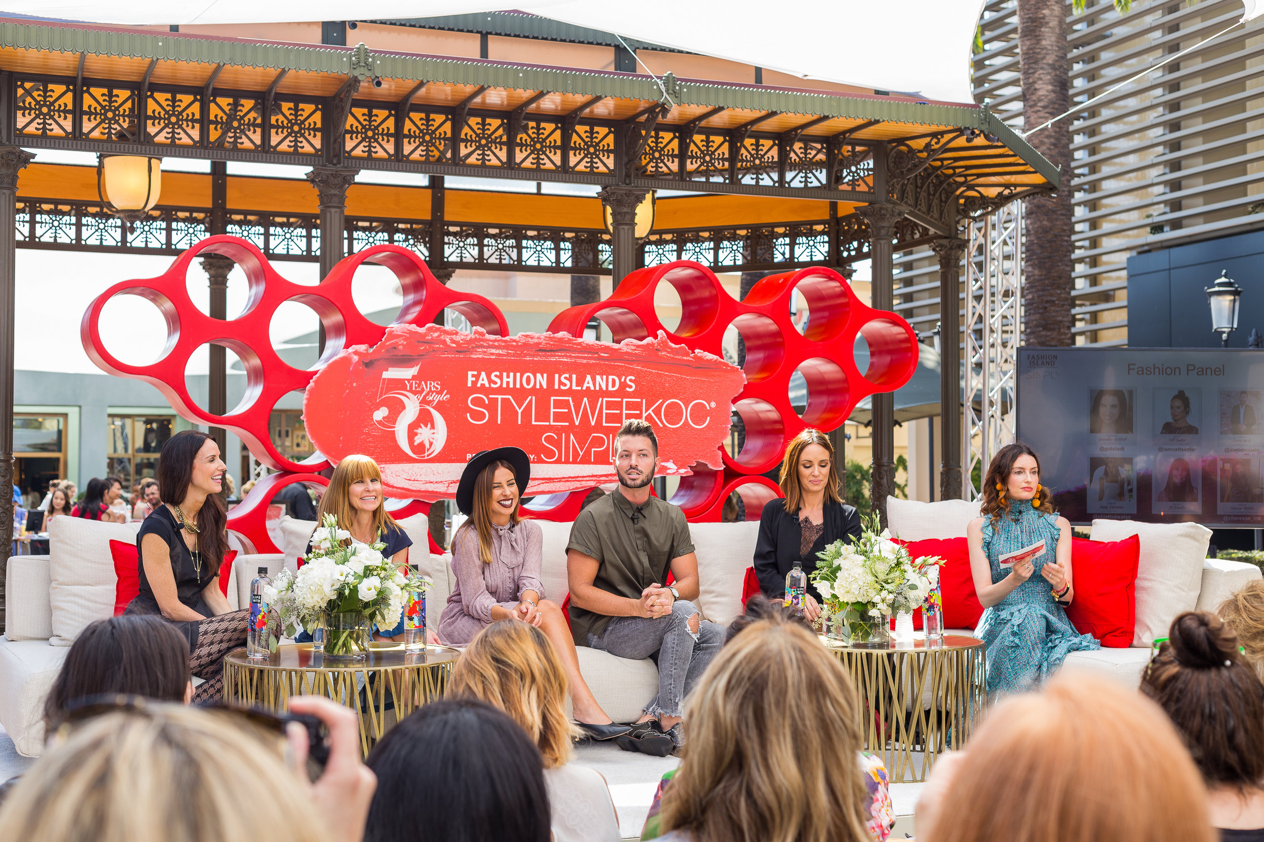 FROM LEFT: Neiman Marcus Public Relations Manager Cheresse Pentella, Nordstrom Merchandise Manager Jill Johnston, fashion blogger Emily Cholakian, celebrity stylist Daniel Musto,  E! News  host and blogger Catt Sadler, and NYLON contributing editor Samantha Gutstadt