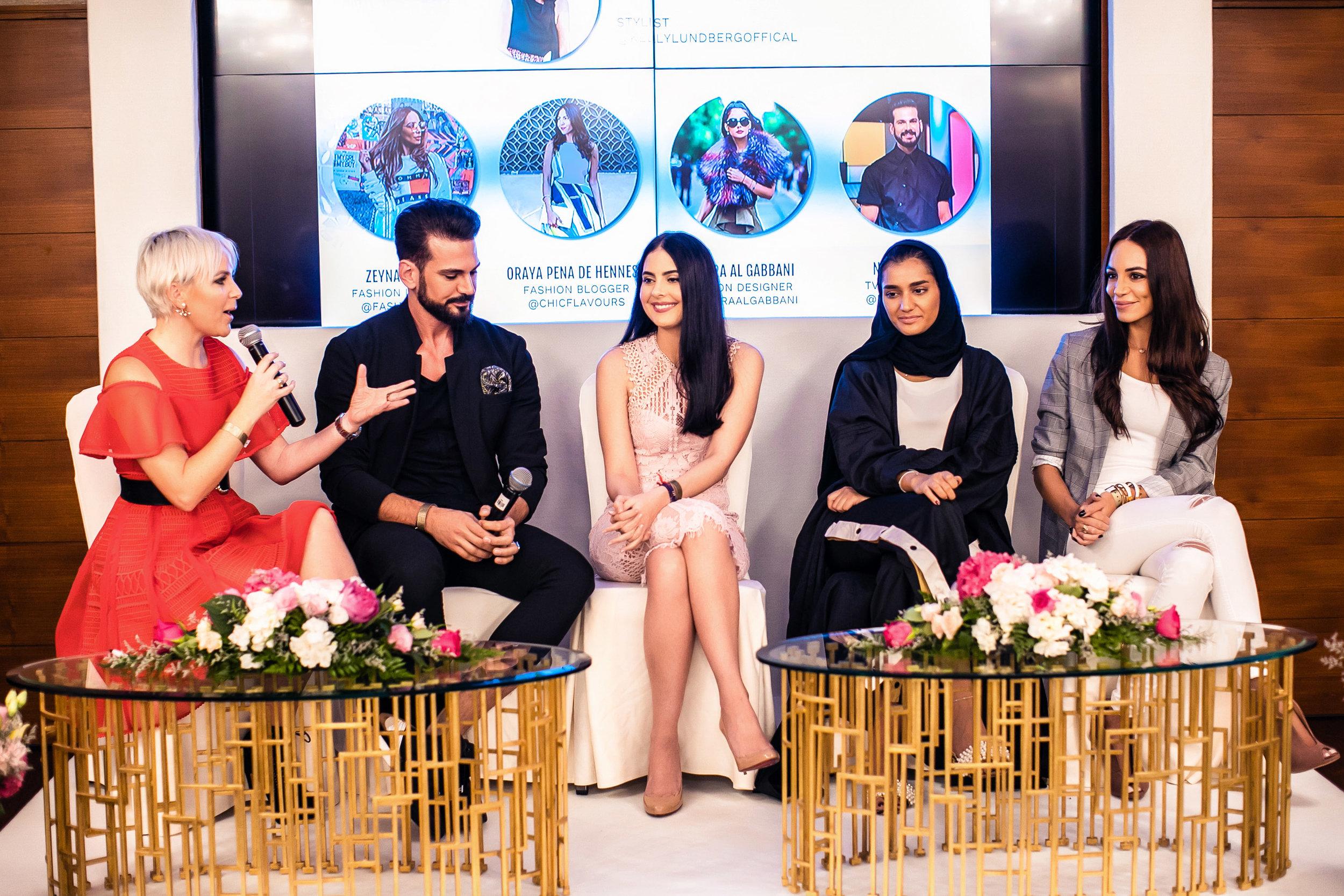FROM LEFT: Kelly Lundberg, Nour Aldin, Tamara Al Gabbani, and Zeynab El-Helw
