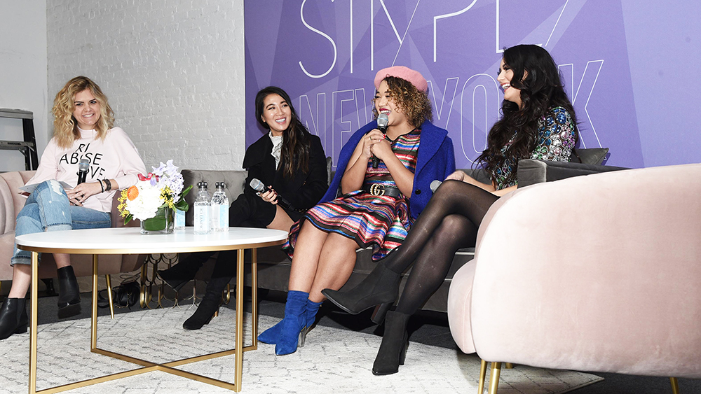 """Our """"Blogging & Beyond"""" panel, featuring  Wendy Nguyen ,  Courtney Quinn ,  Tonya Michelle , and moderator  Alicia Rose"""
