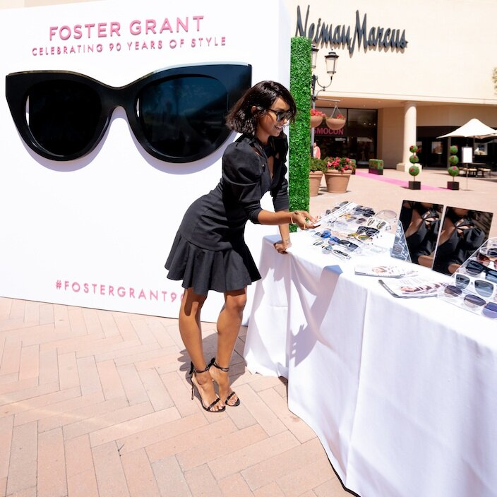Kat Graham at the Foster Grant activation