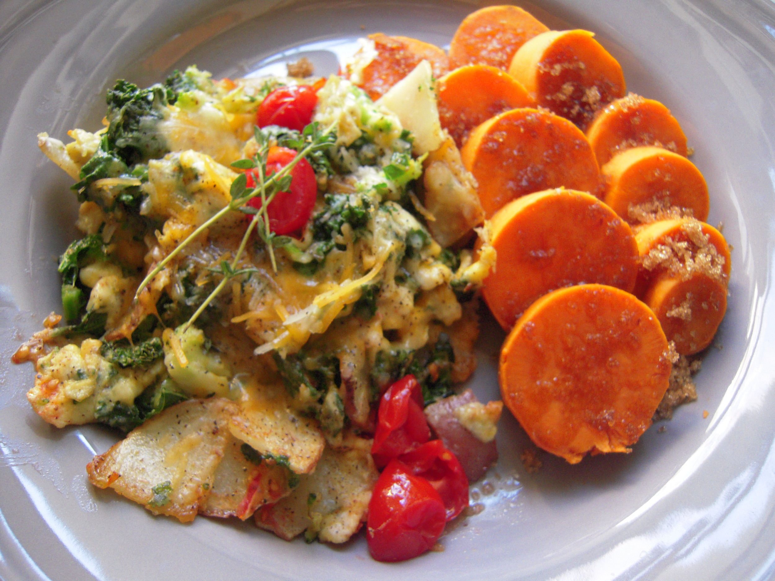 Yams and Garden Scramble.