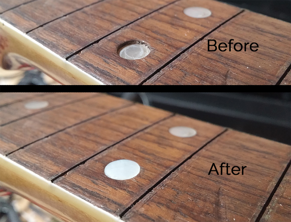 Inlay Dot Repair