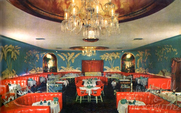 The Blue Room at the Chi Chi, Palm Springs, 1950s. From   Palm Springs Holiday  , Peter Moruzzi.