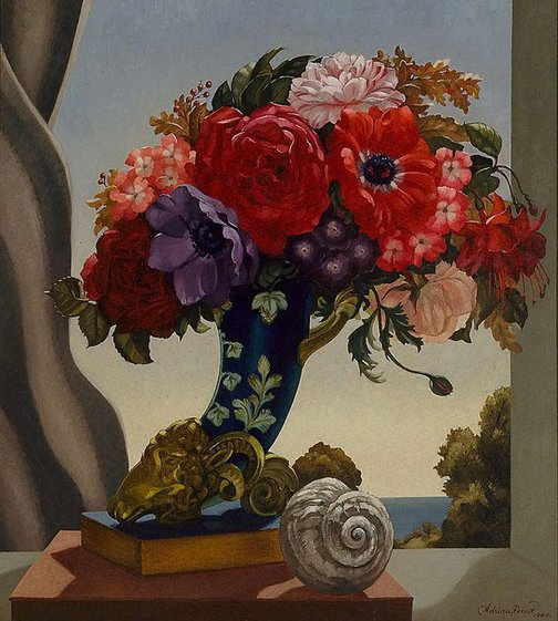 (courtesy of the Art Gallery of New South Wales) Adrian Feint - Flowers in Sunlight (1940)