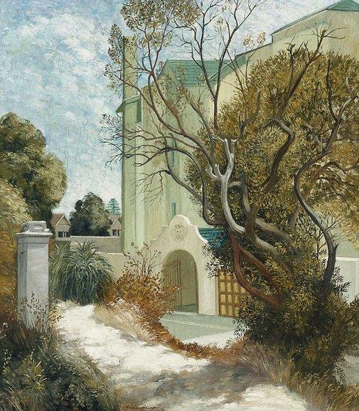 (courtesy of the Art Gallery of New South Wales) Adrian Feint - Del Rio, Elizabeth Bay (1944)