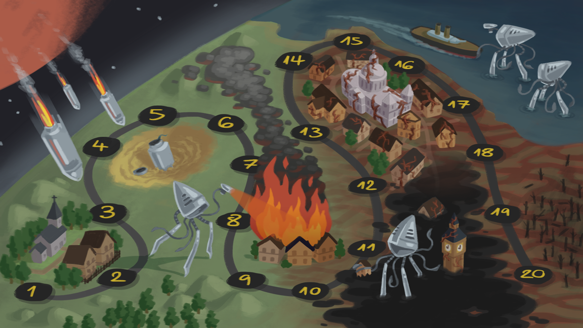 War of the Worlds Level Map