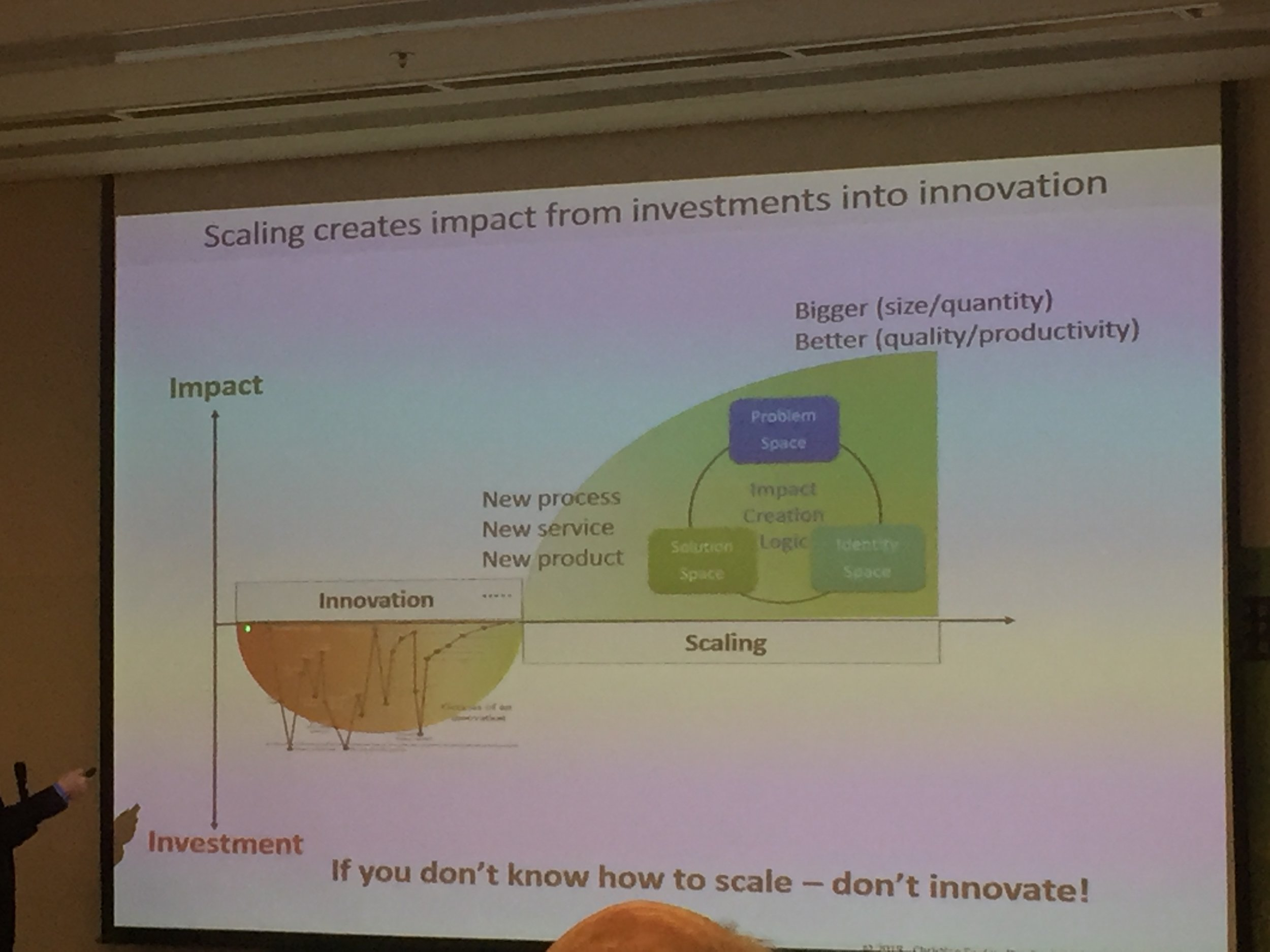 IF you don't know how to scale - don't innovate!!!
