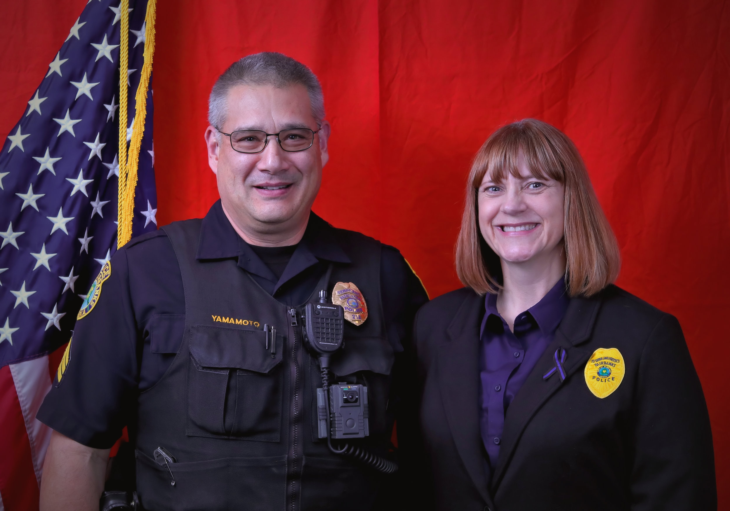 Sergeant Gary Yamamoto Community Outreach Award     Fairbanks Police Department    Gary Yamamoto is an exemplary police officer recognized by community members for treating homeless people with dignity and respect. On a day in December, a community member had to call the police because they were faced with a distraught individual who reported that she was suicidal. Sgt. Yamamoto came and was kind and calm in addressing the woman, even though she was quite hysterical. He had a lot of patience and exhibited great skill in de-escalating the situation while gently explaining that he had to do a patdown and other normal police procedures. He was not only very professional, but also kind. When the individual ran off towards an unsafe area, Sgt. Yamamoto was able to quickly apprehend her and remove her from the scene. This may have been an ordinary task to him, but the compassion with which he treated this homeless woman was just one example of his professionalism. Fairbanks residents can feel at ease knowing that Gary is a part of this community as a police officer.