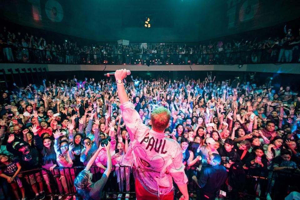 Jake Paul performing