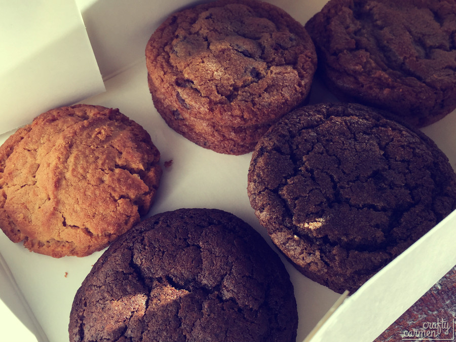 Anthony's Cookies' Peanut Butter, Classic Chocolate Chip, Toffee Chip, Cookies & Cream, Coffee Cookies   craftycarmen