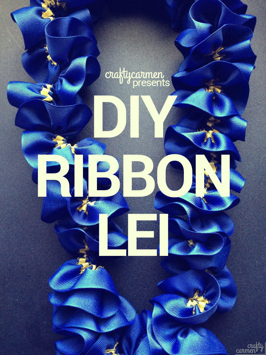 DIY Ribbon Lei | craftycarmen