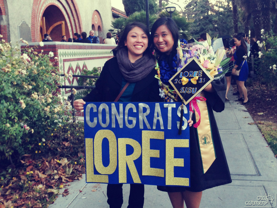 Loree's Graduation Day w/ DIY Ribbon Lei | DIY Ribbon Lei | craftycarmen