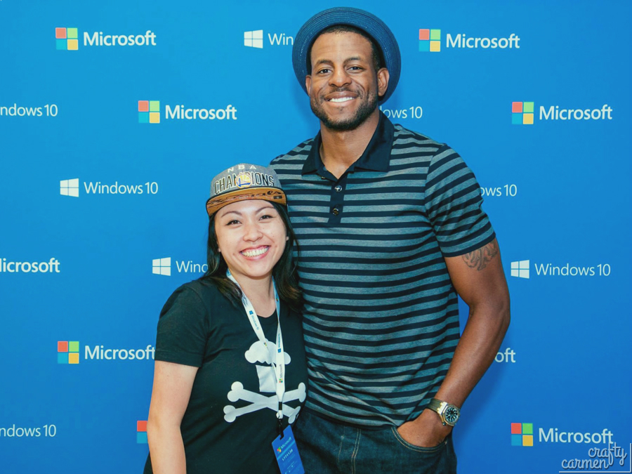 Andre Iguodala at Microsoft Windows 10 Launch | craftycarmen