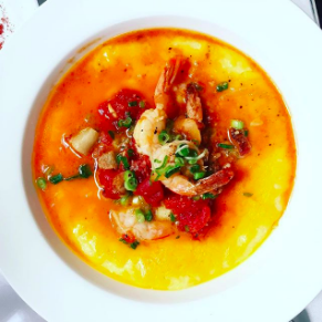 SHRIMP & GRITS - Brenda's French Soul Food • San Francisco, CA