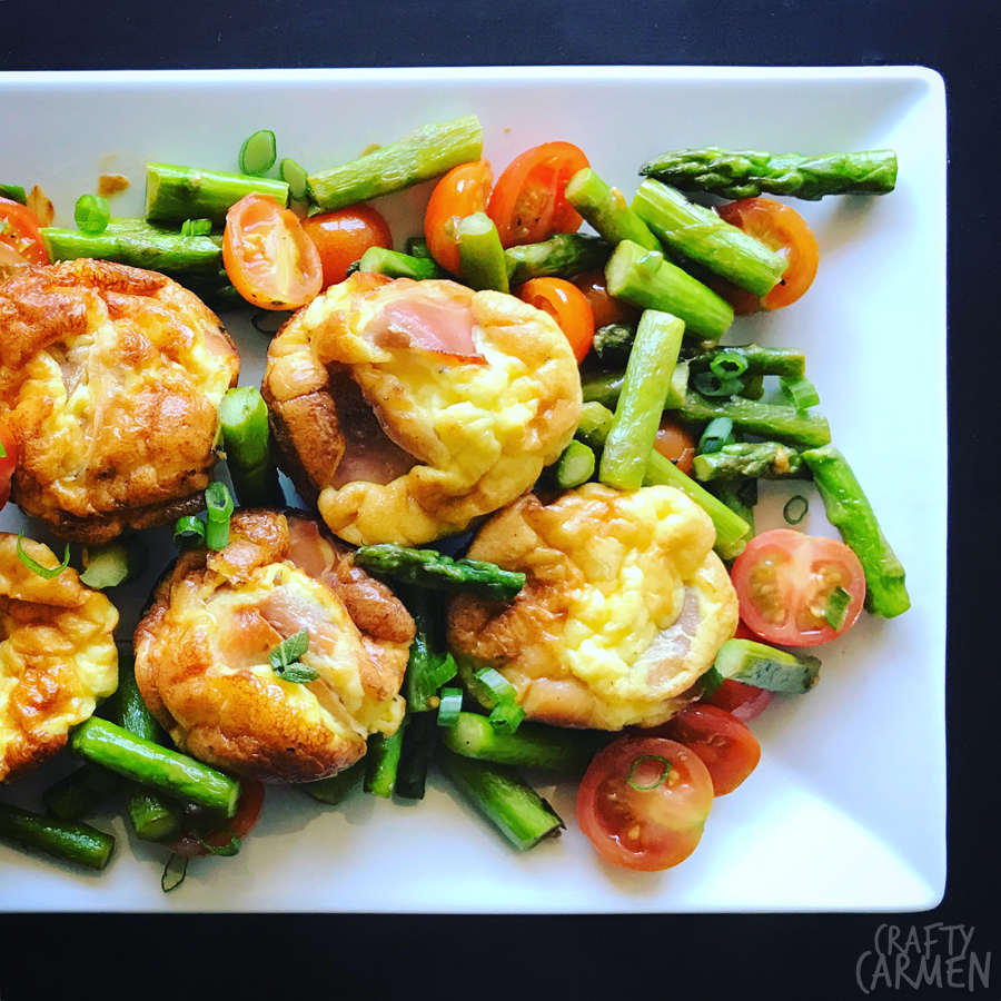 Prosciutto Egg Cups with Asparagus — Recipe from The Seasoned Life by Ayesha Curry | craftycarmen