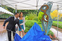 Anthony Quinn Foundation sculpture unveiled at INTERPOL's General Secretariat