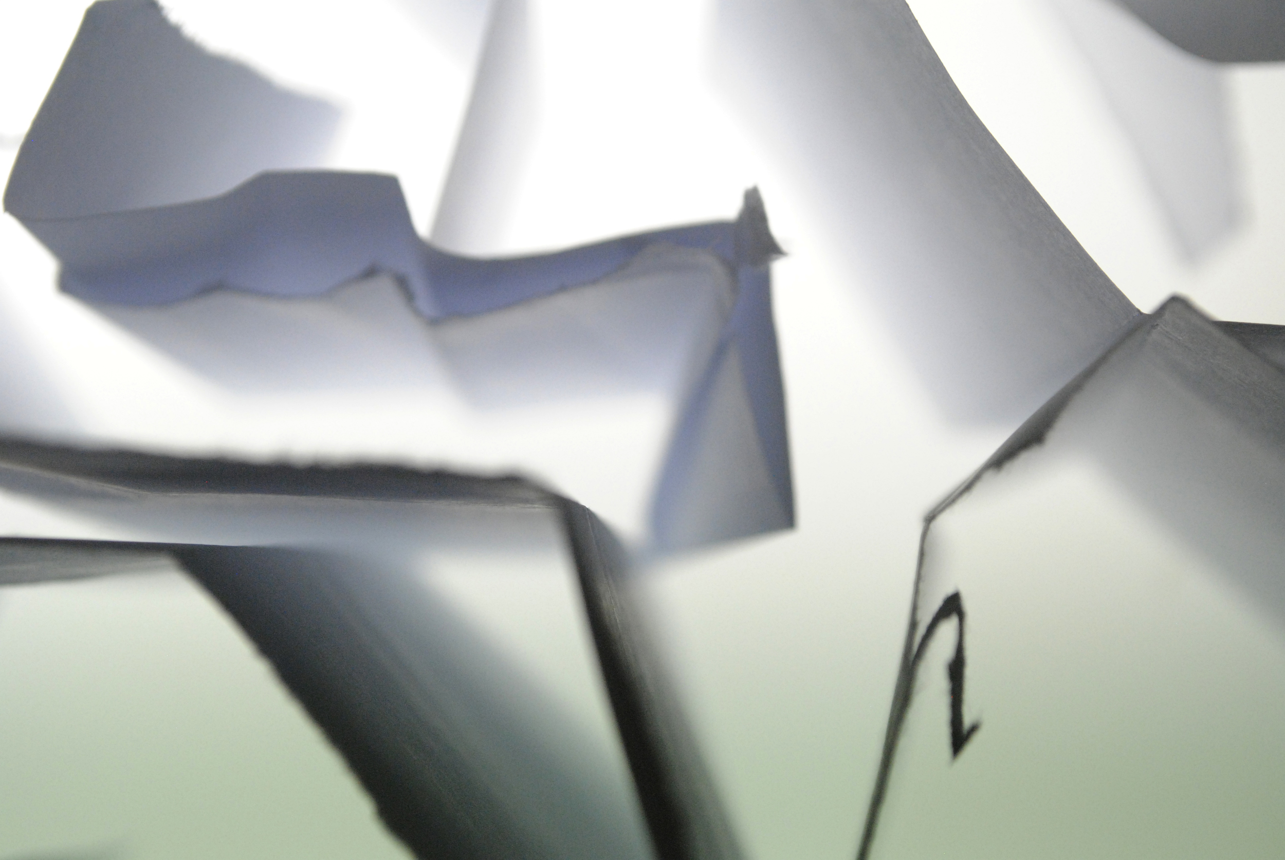 """Le Papier Froissé,"" a digital photograph of folded paper on a light table that Emilie Sommers shot in the fall of 2011."