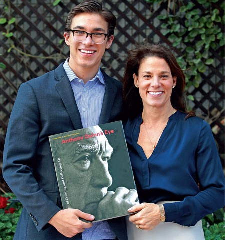 Katherine Quinn (right) with her and Anthony's son, Ryan Quinn