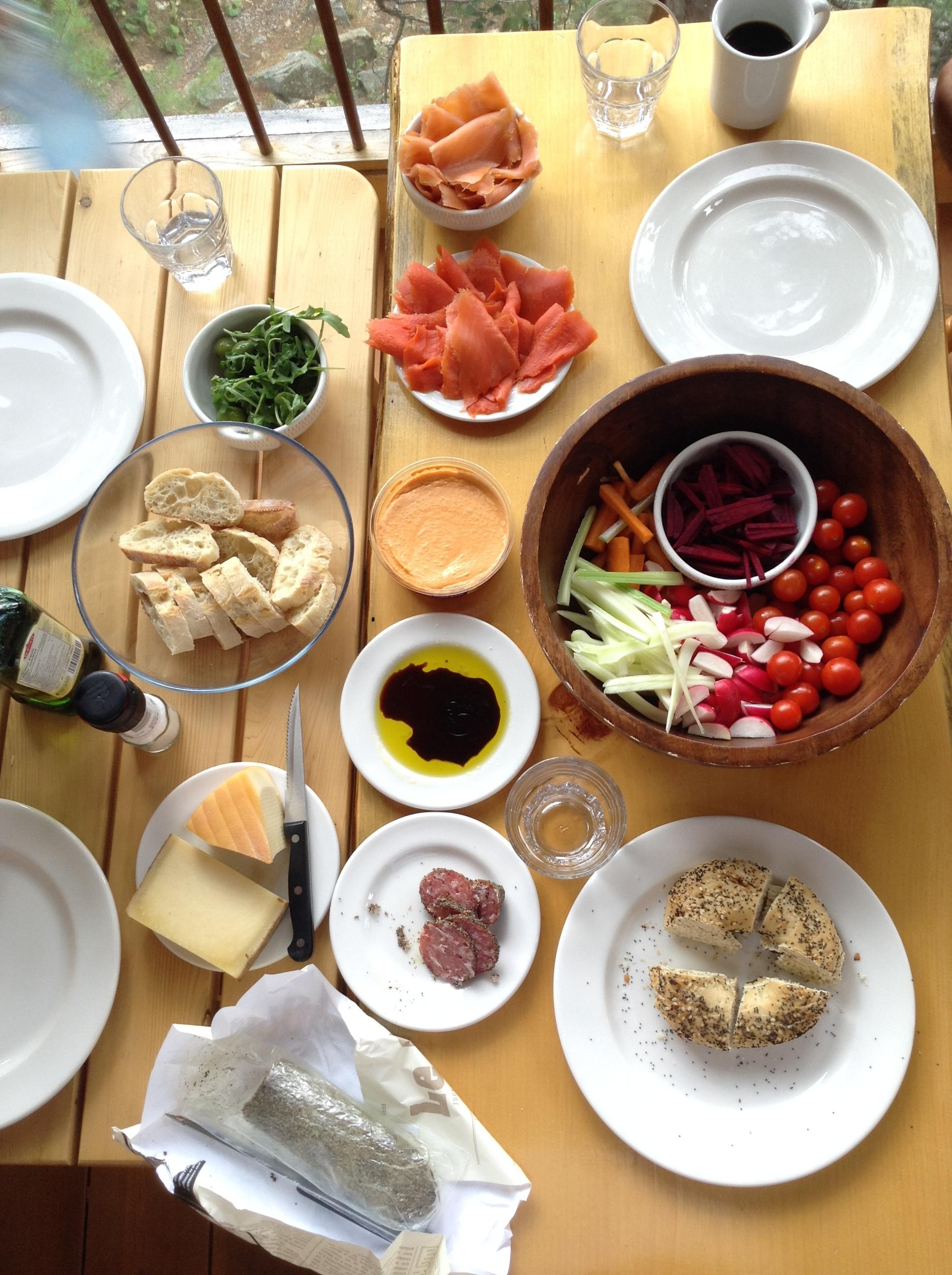 Homemade lunch