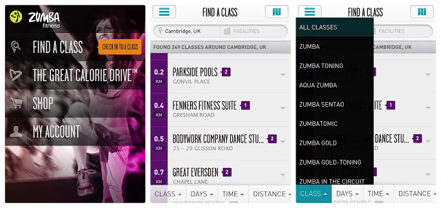 Zumba Mobile App - Great Calorie Drive