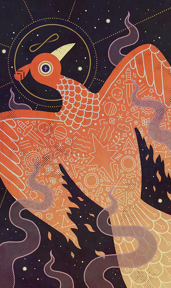 "Phoenix, featured in Light Grey Art Lab's ""Cosmos"" show"