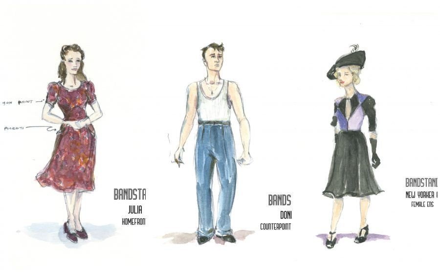 costumes for the musical  Bandstand