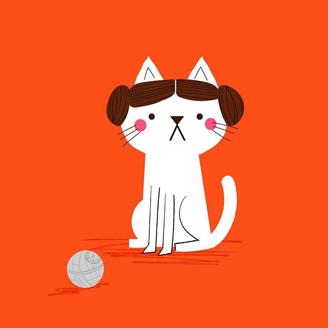 Here's a Princess Leia cat playing with her Death Star toy to celebrate Star Wars Day! May the 4th be with you. Go to my stories to get it as a phone wallpaper. 🐱#maythe4thbewithyou #starwarscelebration #starwarswallpaper #starwarsfanart #illustrator #princessleia #starwarsdaily #childrensillustrators #kidsillustration #caturday #caturdayart