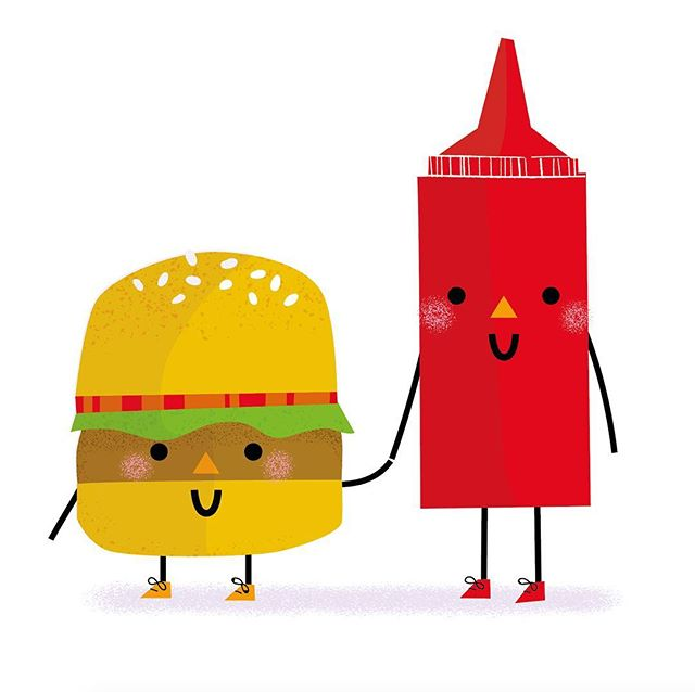 We've been drawing all things food this week at @thecolourcoop 🍔🍟🍕🍔🍟🍕 #illustrator #illustration #foodillustration #colourcoop #hungry #yummy #hotdogillustration #hotdog #cuteillustration #kidsillustration #burgerlover