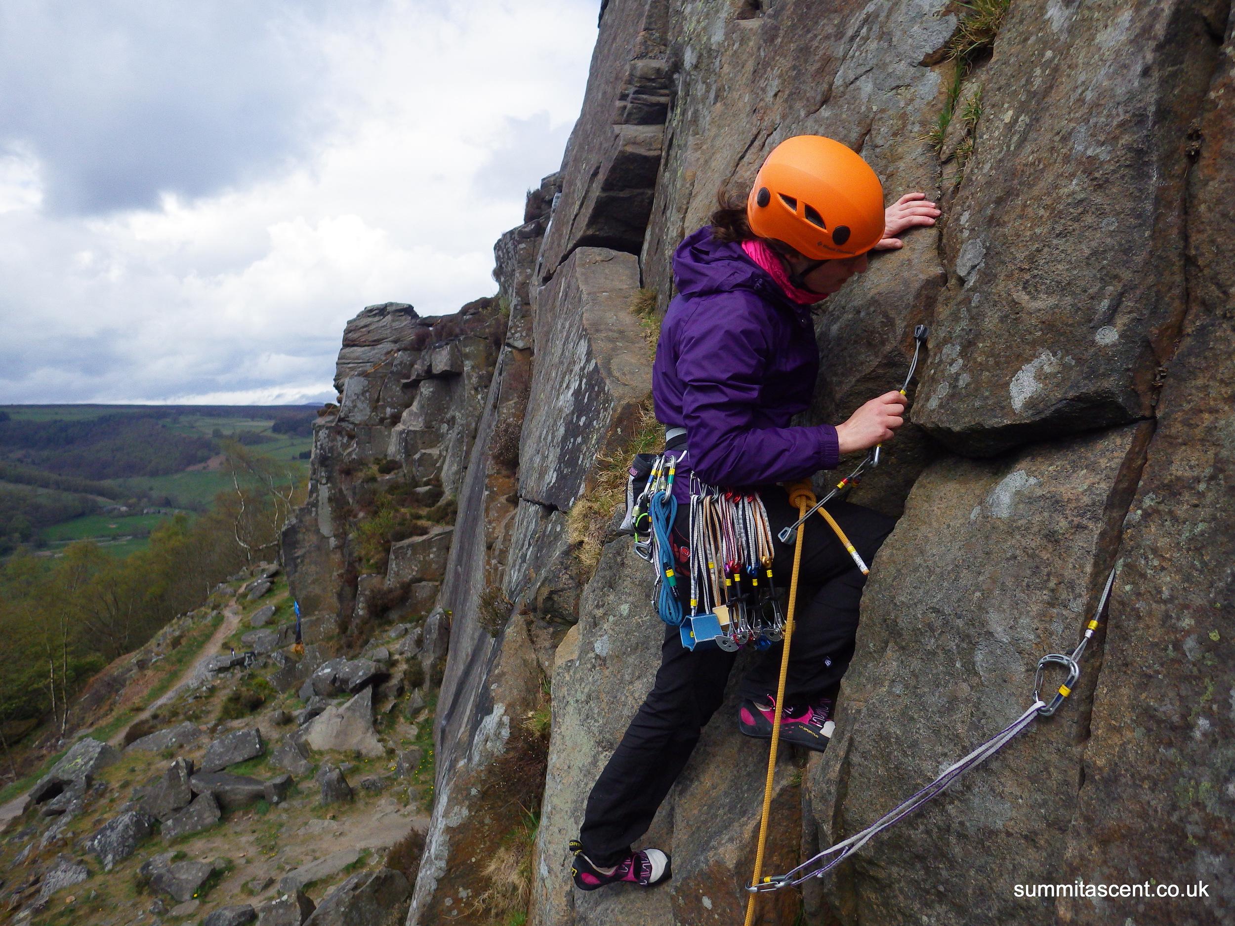 Learning to Lead, Froggat Edge, Peak District