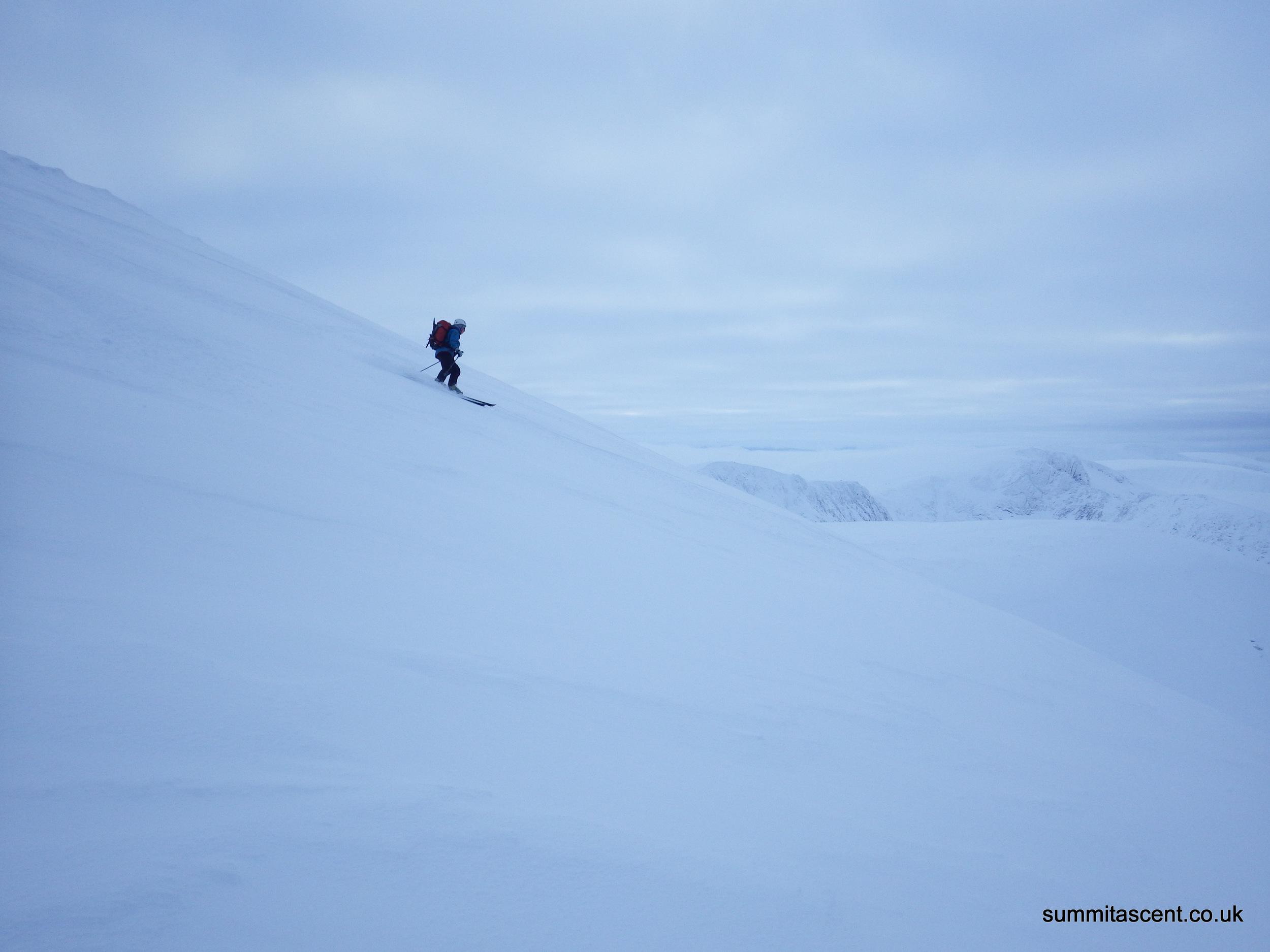 Mandy enjoying the ski down
