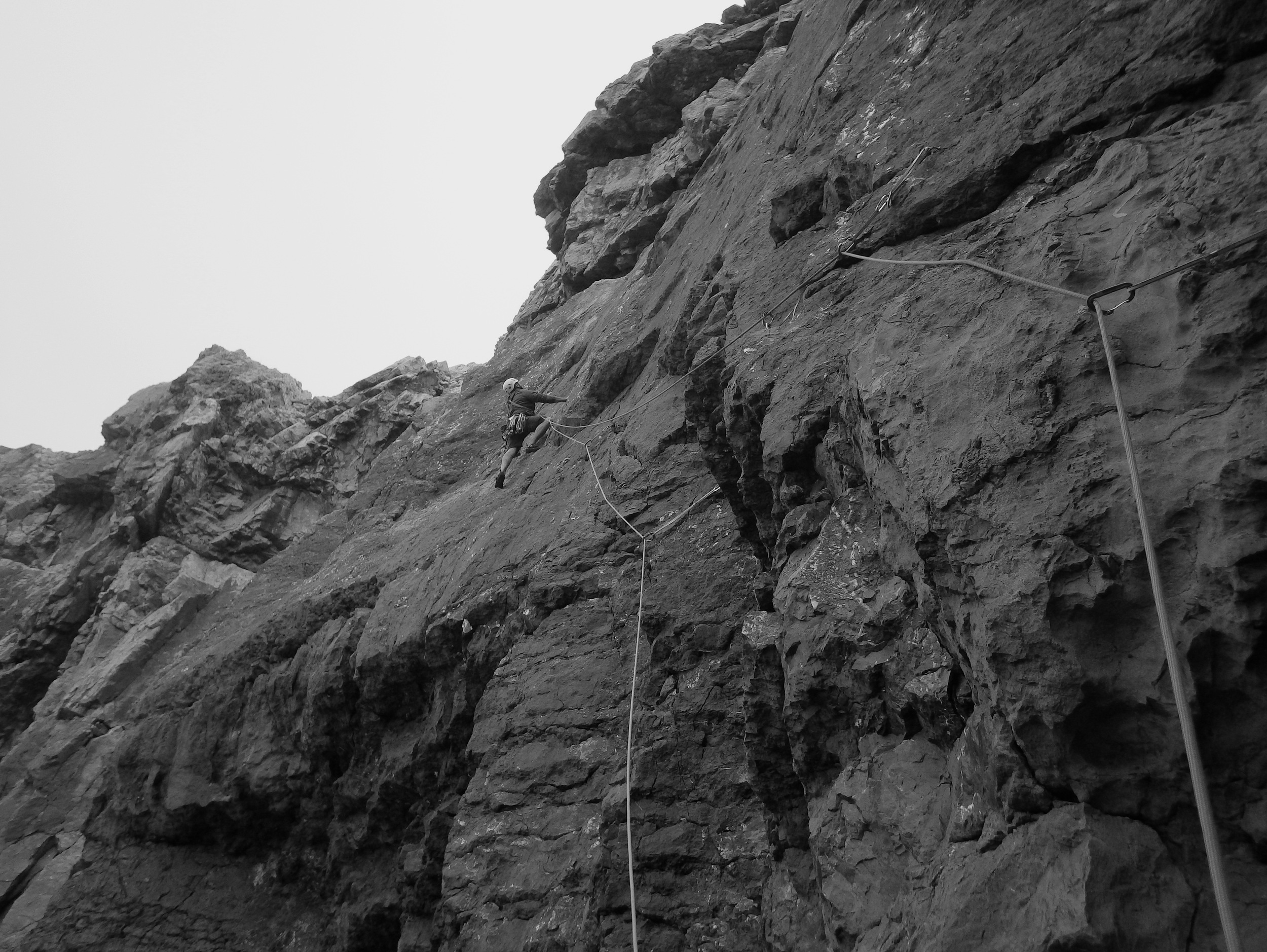 Pablo on Sensory Games, at Blockhouse Buttress