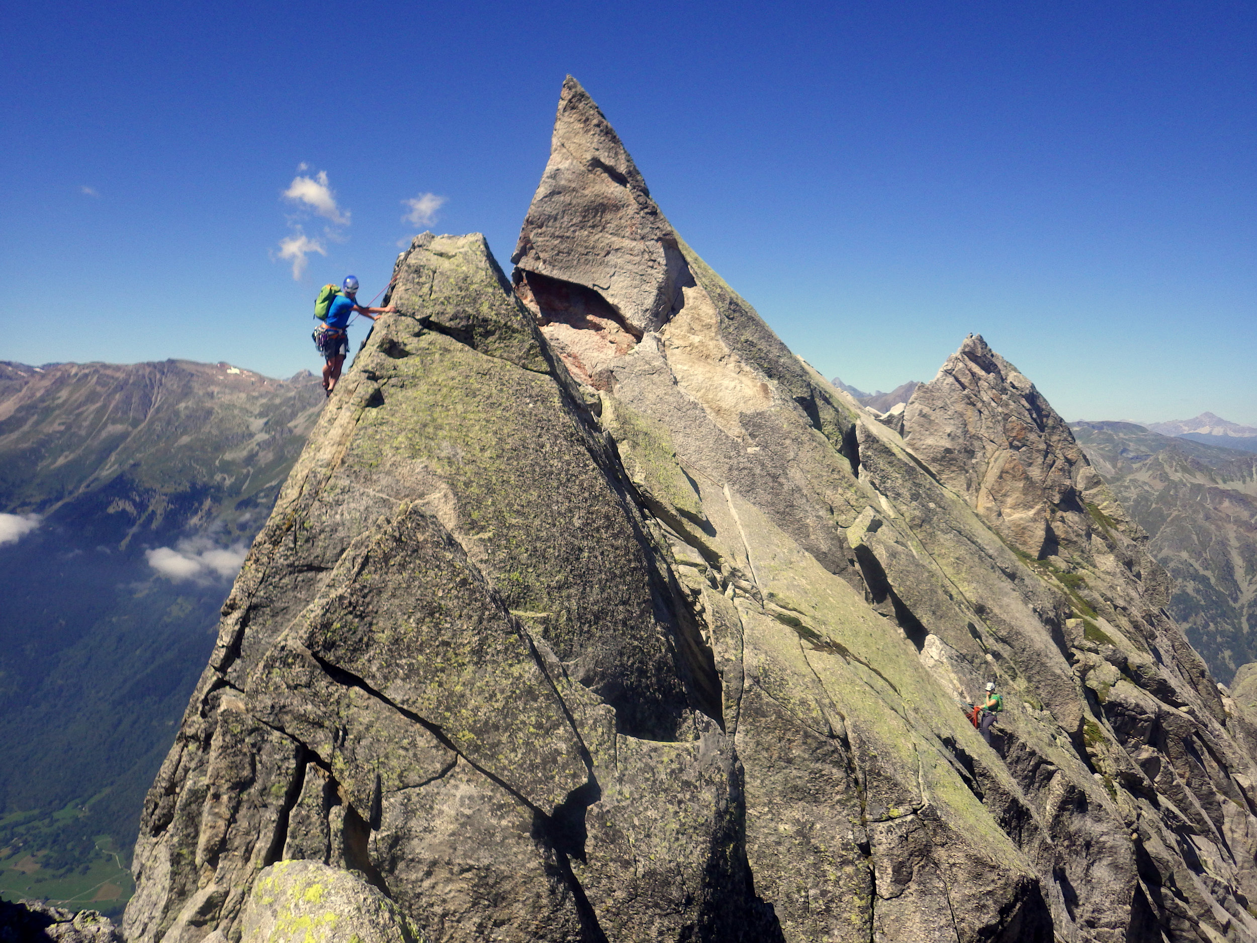 Andy and Cat on the Traverse of La Vergine