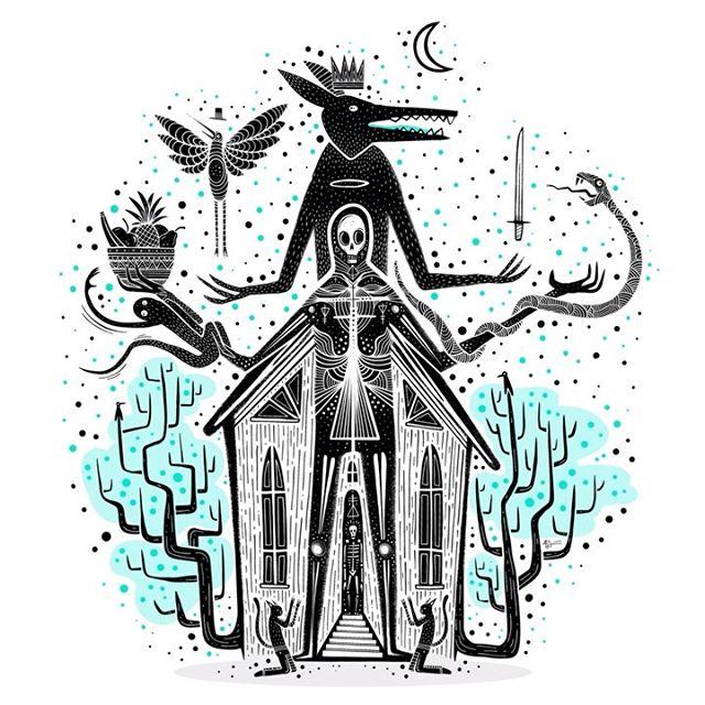 Creating: The Saint of your sins. . . . #skullart #pastelgoth #darkart #darkartist #lowbrowartist #skeletonart #brutsubmission #brooklynsnobs