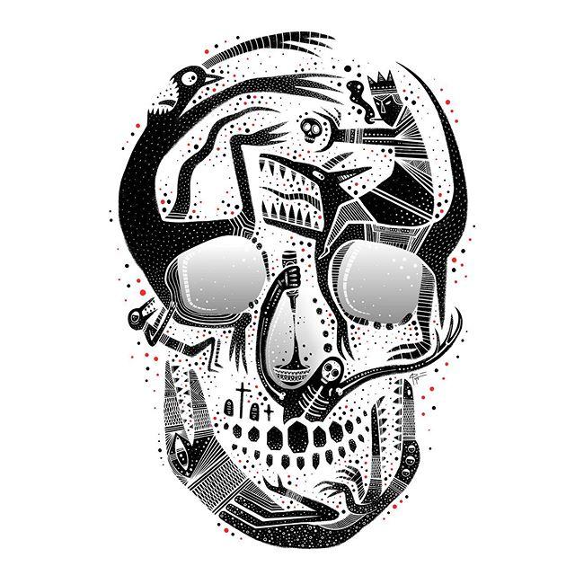Made of Monsters. . . . #skullart #monsterart #darkartist #occultart #darkartists #lowbrow #lowbrowartist #brutsubmission #brooklynsnobs