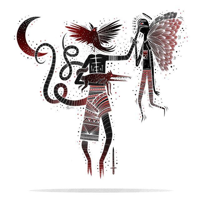 Irritating Angel. . . . #👹 #horrorart #darkartist #darkart #lowbrowartist #lowbrowart #brutsubmission #brooklynsnobs