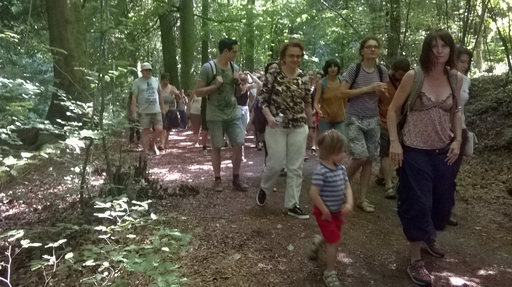 Some of our great audience! In total I think we had 160 people coming to the forest with us.