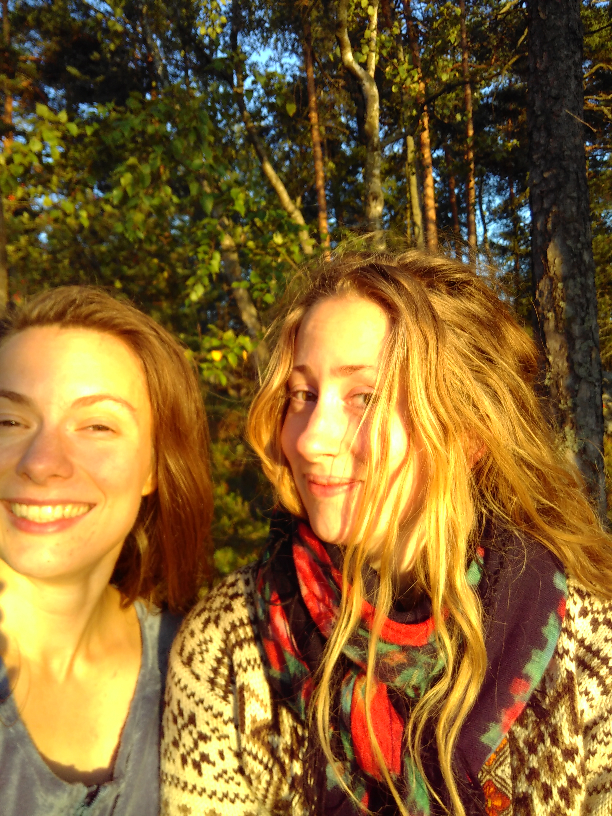 And here we are happy in the sunset after 5 successful shows in Helsinki!