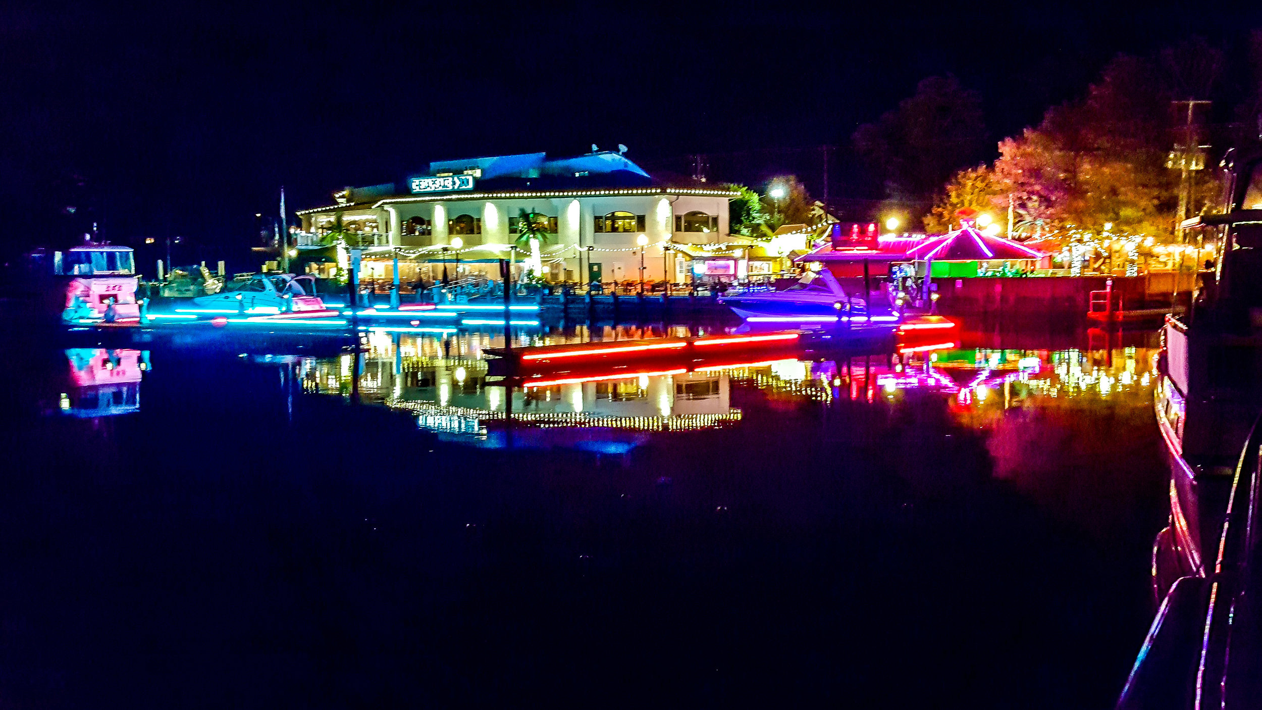Chesapeake City Boat Basin at Night (Photo By Diane Edge)