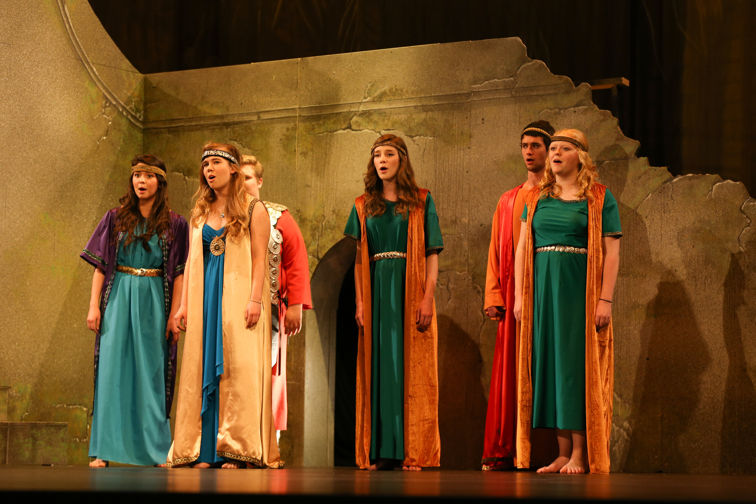 - Rose (center) in an opera performance.