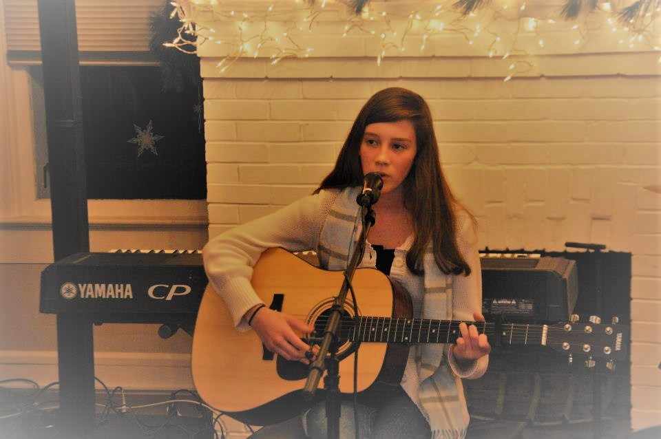 - Performing at a student showcase in 2012.