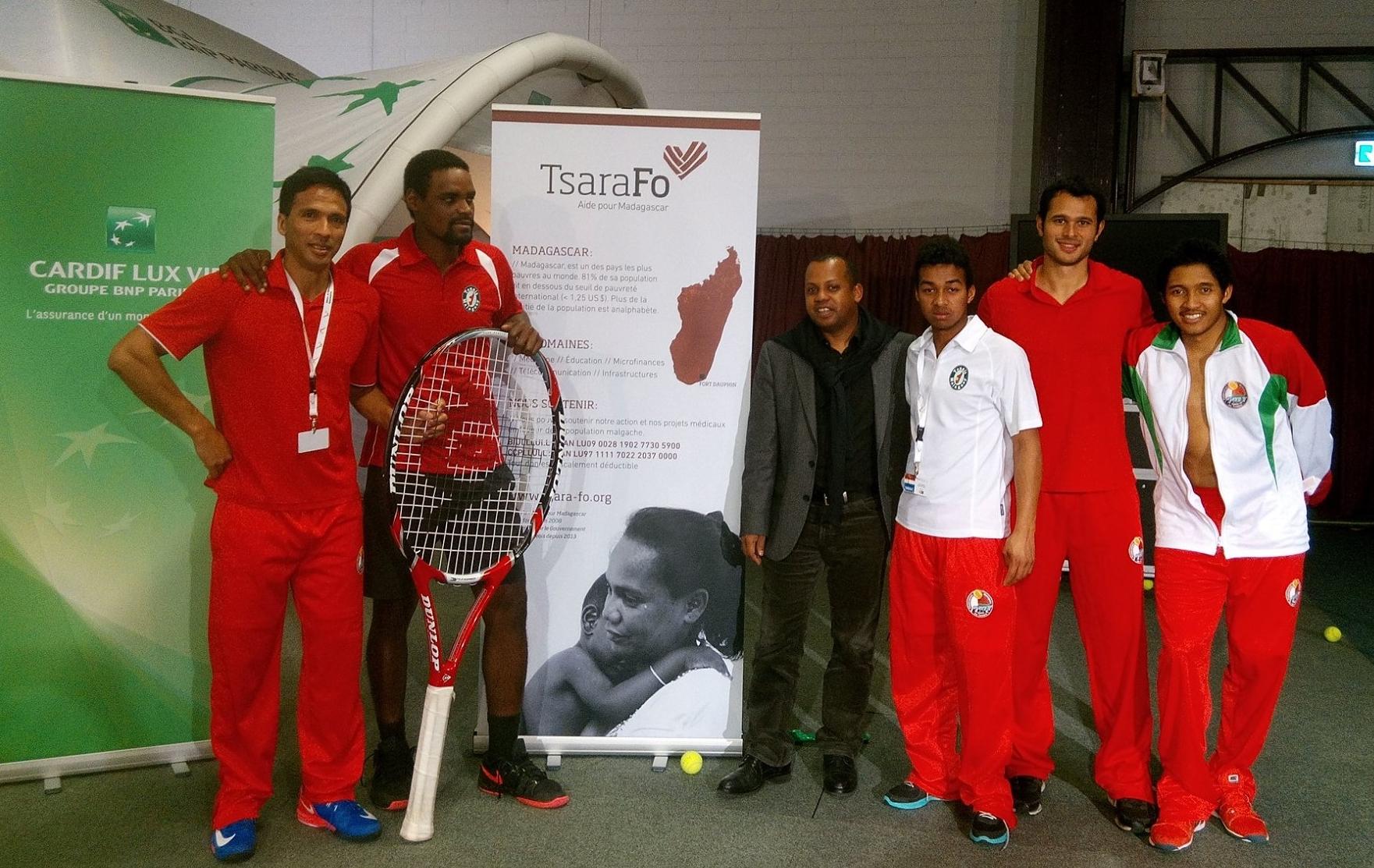 DAVIS CUP: Tennis: Luxembourg contre Madagascar