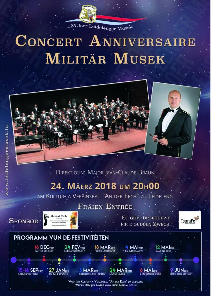 Affiche vum Concert vun der Militärmusek